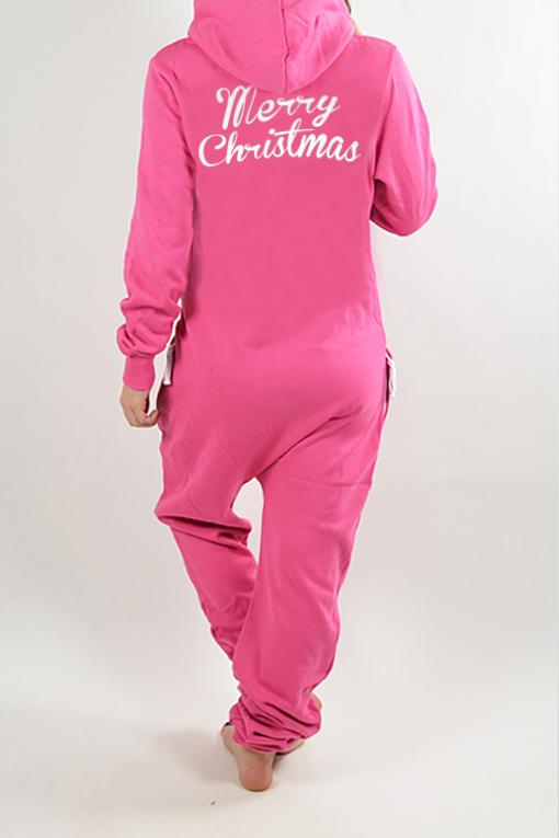 Christmas Onesie.Comfy Pink Merry Christmas Onesie