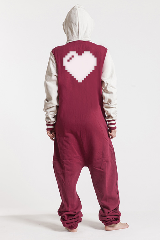 College Red, Heart, Onesie - 4913