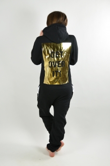 Comfy Black, Get over it -Gold, Onesie - 1199