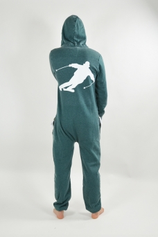 Burned Green, Skier, Onesie - 1505