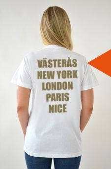 T-Shirt White, Cities - 1730
