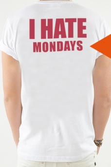 T-Shirt White, I HATE - 1754
