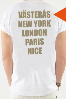 T-Shirt White, Cities - 1759