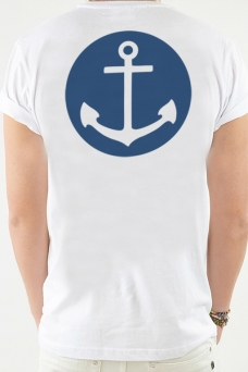 T-shirt White, Anchor - 1790
