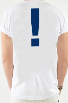 T-shirt White, Exclamation. - 1921