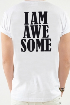 T-Shirt White, Awesome - 1931