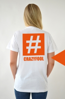 T-Shirt White, Crazyfool - 1985