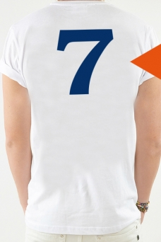 T-Shirt White, One Digit - 2051