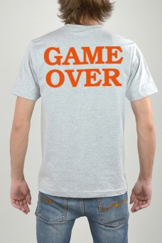 T-Shirt Grey, Game Over - 3154