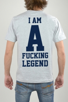 T-Shirt Grey, I Am - 3161