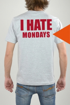 T-Shirt Grey, I Hate - 3222