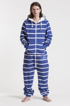 Striped - Blue, Onesie - 4343