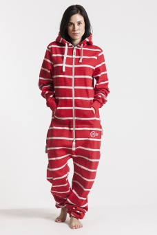 Striped - Red, Onesie - 4347