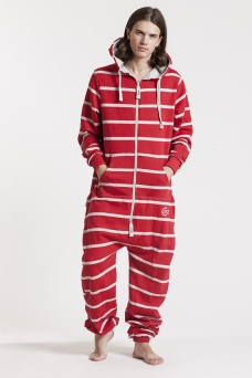 Striped - Red, Onesie - 4351