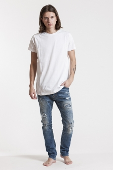 T-shirt, white, basic - 4375