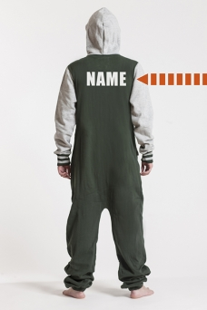 College Green, Backprint, Onesie - 4428