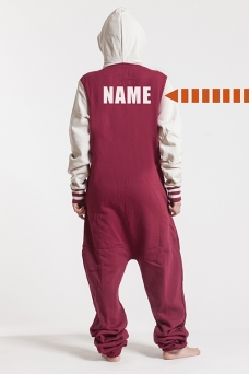 College Red, Back Nameprint, Onesie - 4438