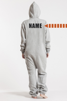 Comfy Grey, Back Nameprint, Onesie - 4457