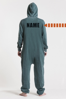 Burned Green, Back Nameprint, Onesie - 4493