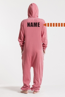 Burned Red, Back Nameprint, Onesie - 4502
