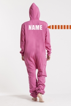 Comfy Pink, Back Nameprint, Onesie - 4538