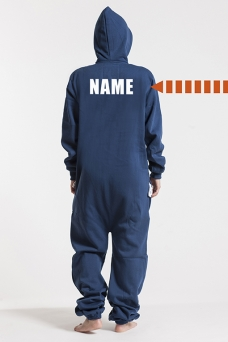 Comfy Navy, Back Nameprint, Onesie - 4555