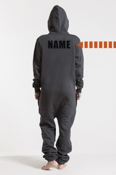 Comfy Dark Grey & Silver, Back Nameprint, Onesie - 4565