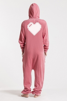 Burned Red, Heart, Onesie - 4857