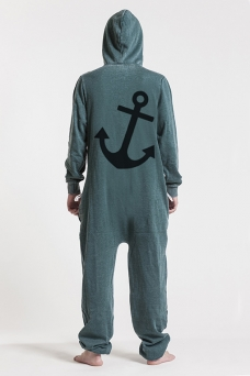 Burned Green - Anchor, Onesie - 4929
