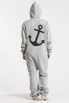 Comfy Grey, Anchor, Onesie - 4945
