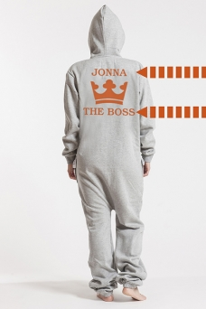 Comfy Grey, The Boss, Onesie - 5010