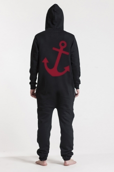 Comfy Black, Anchor, Onesie - 5058