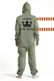 Comfy Armygreen, The Boss, Onesie - 5301