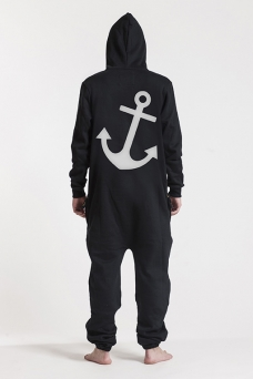 Comfy Black & Gold, Anchor, Onesie - 5366