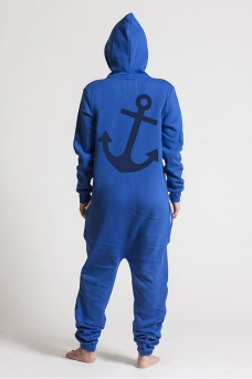 Comfy Blue, Anchor, Onesie - 5375