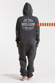 Comfy Dark Grey & Silver, The Best, Onesie - 5606