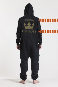 Comfy Black, The Boss, Onesie - 5615