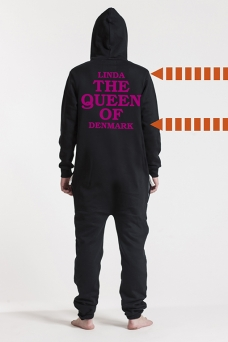 Comfy Black, The Queen, Onesie - 5726
